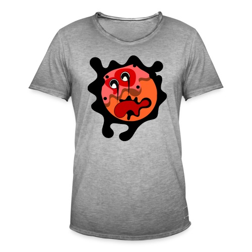 scary cartoon - Mannen Vintage T-shirt