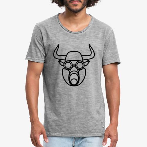 Stier mit Gasmaske - Männer Vintage T-Shirt