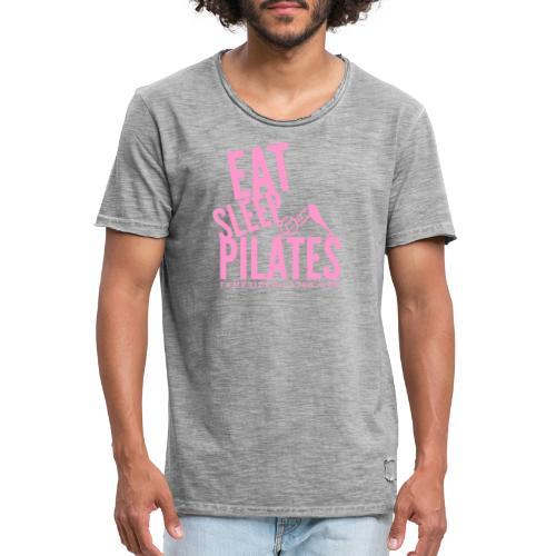 eat sleep pilates 2019 pink - Men's Vintage T-Shirt