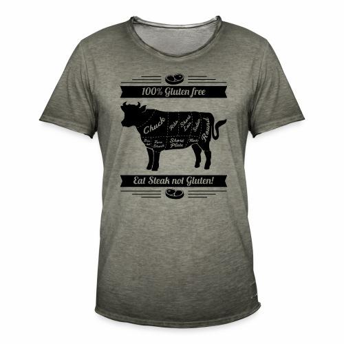 Humorvolles Design für Fleischliebhaber - Männer Vintage T-Shirt
