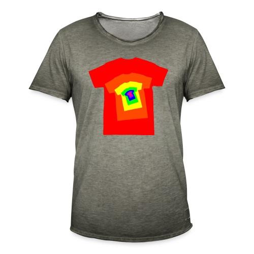 Rainbow T Shirt Spiral - Men's Vintage T-Shirt