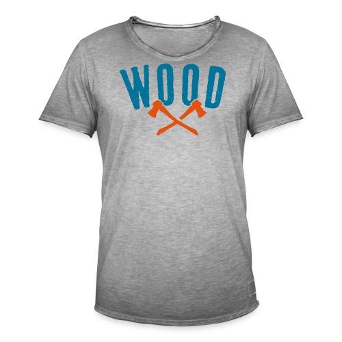 Wood - Männer Vintage T-Shirt