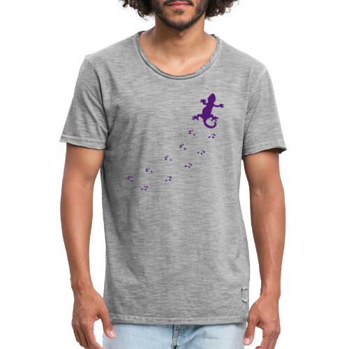 Messy Lizard Paws - Men's Vintage T-Shirt