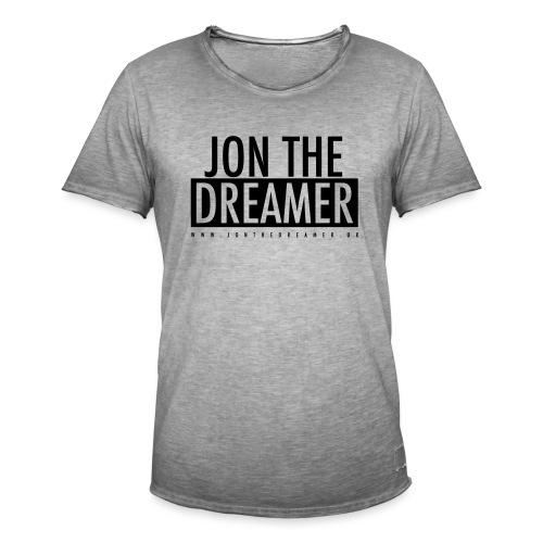 JON THE DREAMER LOGO - WHITE - Men's Vintage T-Shirt