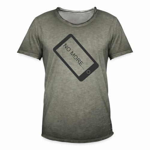 No More Smartphone - T-shirt vintage Homme