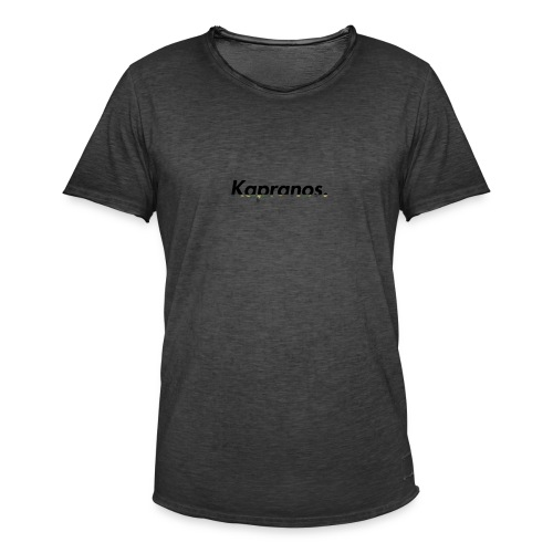 Kapranos Brand (Black / Camo) - Men's Vintage T-Shirt
