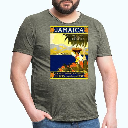 Jamaica Vintage Travel Poster - Men's Vintage T-Shirt