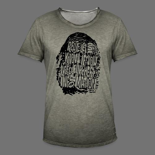Fingerprint DNA (black) - Männer Vintage T-Shirt