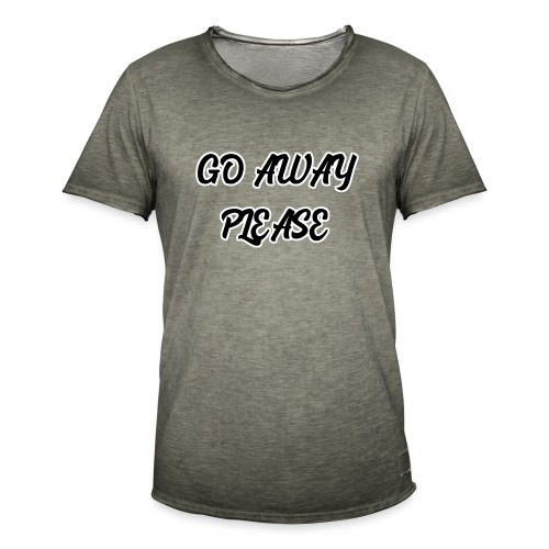 Go Away Please - Männer Vintage T-Shirt
