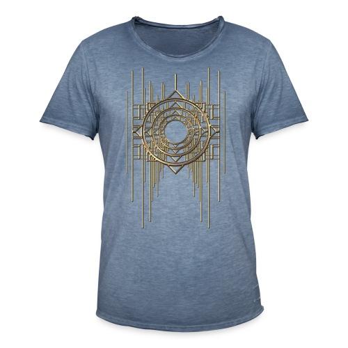 Abstract & Geometric - Gold Metal - Men's Vintage T-Shirt