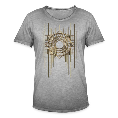 Abstract & Geometric - Gold Metal - Men's Vintage T-Shirt
