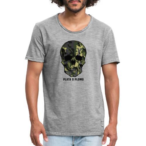 Colombian skull - plata o plomo - Männer Vintage T-Shirt