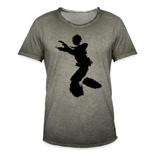 Wing Chun / Kung Fu Tusche Figur VEKTOR - Men's Vintage T-Shirt