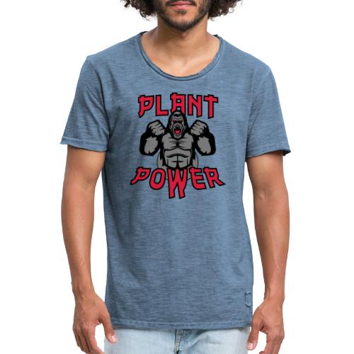 Plant Power - Männer Vintage T-Shirt