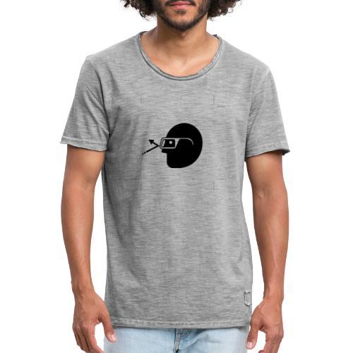 Kopf mit Brille - Männer Vintage T-Shirt