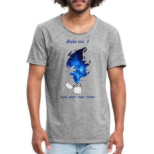 Rule no. 1 - Herre vintage T-shirt