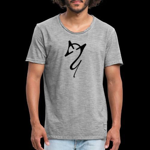 Overscoped Logo Front & Back - Men's Vintage T-Shirt