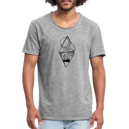 Sun Mountains - Männer Vintage T-Shirt