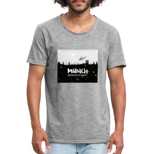 MUNICH BELIEVES - Männer Vintage T-Shirt