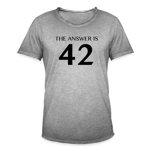 The Answer is 42 Black - Men's Vintage T-Shirt