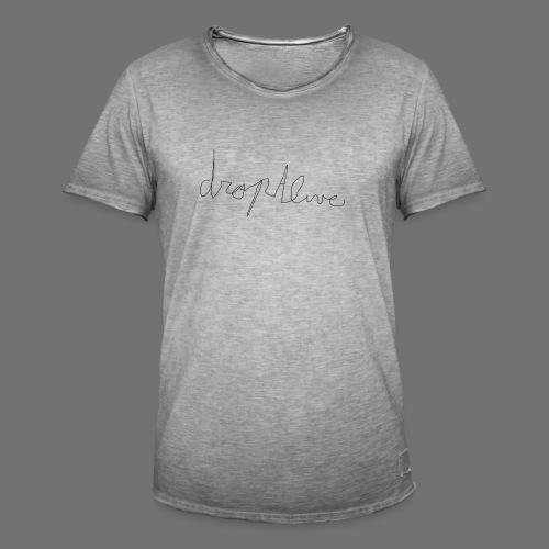 DropAlive - Mannen Vintage T-shirt