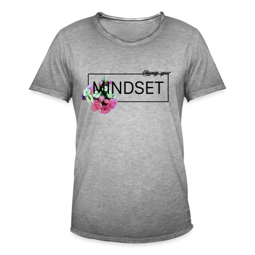 Change Your Mindset Flower Power - Männer Vintage T-Shirt