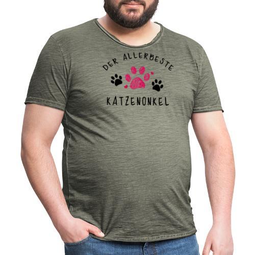 Der allerbeste Katzenonkel - Männer Vintage T-Shirt