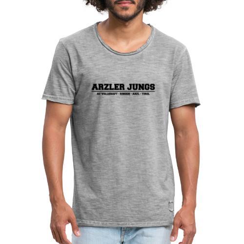 Arzler Jungs Schriftzug in Schwarz - Männer Vintage T-Shirt