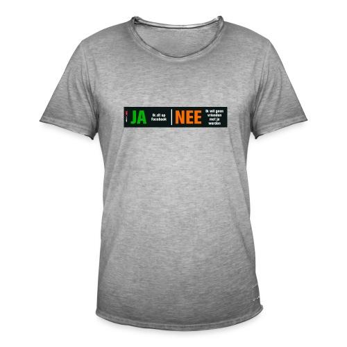 facebookvrienden - Mannen Vintage T-shirt
