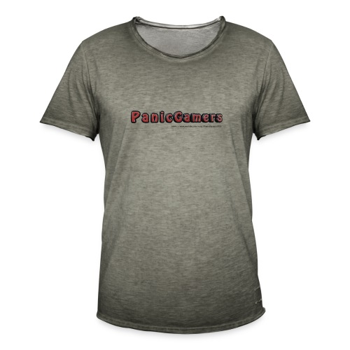 Canotta PanicGamers - Maglietta vintage da uomo