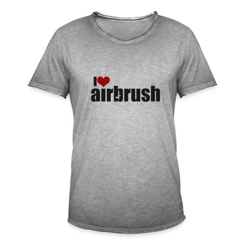 I Love airbrush - Männer Vintage T-Shirt