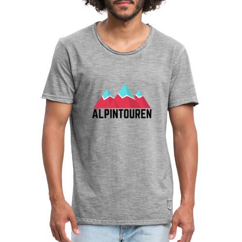 Alpintouren - Männer Vintage T-Shirt