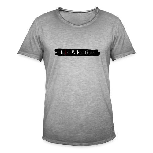 fein & kostbar - Markenlogo - Männer Vintage T-Shirt
