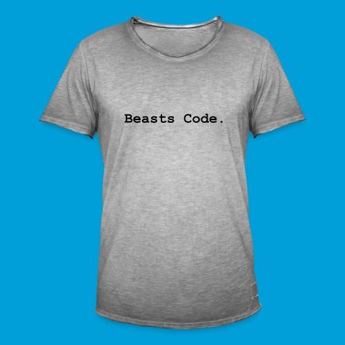Beasts Code. - Men's Vintage T-Shirt