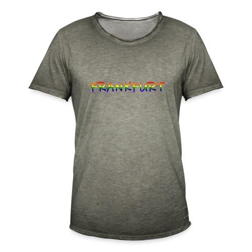 Frankfurt Rainbow #1 - Männer Vintage T-Shirt