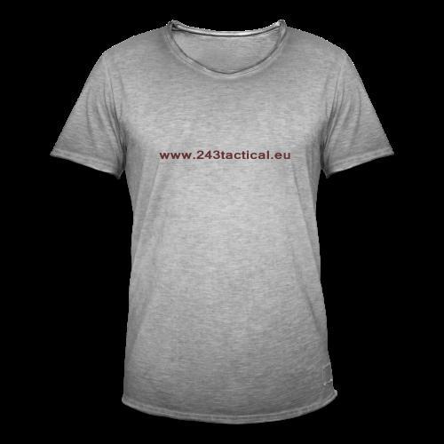 .243 Tactical Website - Mannen Vintage T-shirt