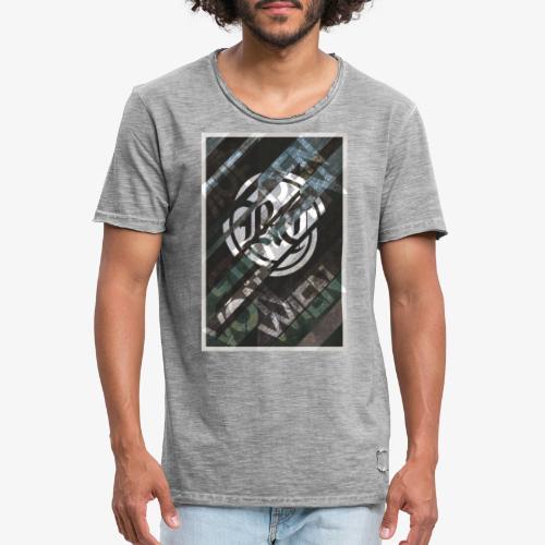Auf den Strassen von Wien - Männer Vintage T-Shirt