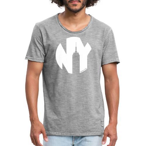 Logo French Yorker blanc - T-shirt vintage Homme