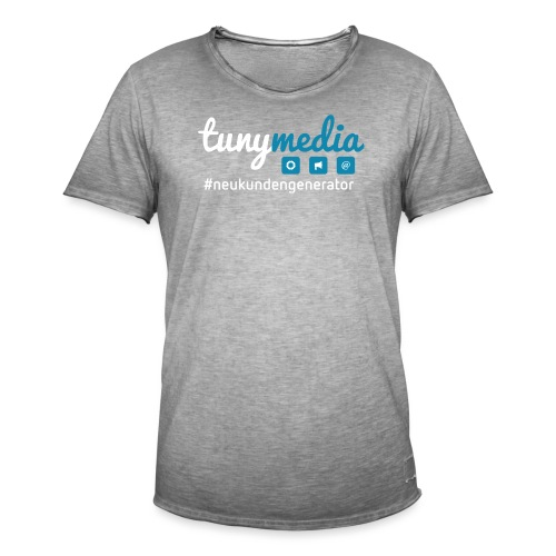 Tunymedia Brand - Männer Vintage T-Shirt