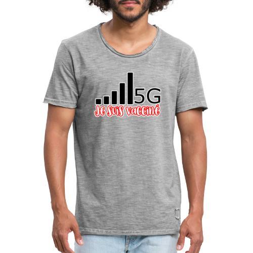 Je suis vacciné, j'ai la 5G - T-shirt vintage Homme