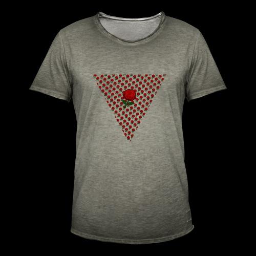 Dreieck Rose - Männer Vintage T-Shirt