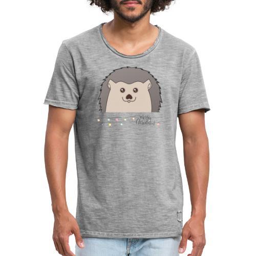 Hed wünscht Merry Christmas - Männer Vintage T-Shirt