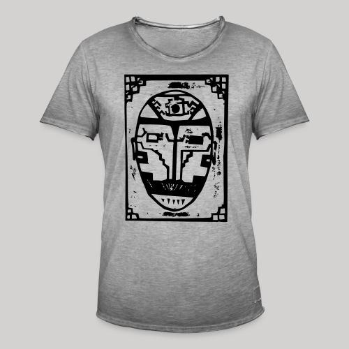 face - Männer Vintage T-Shirt