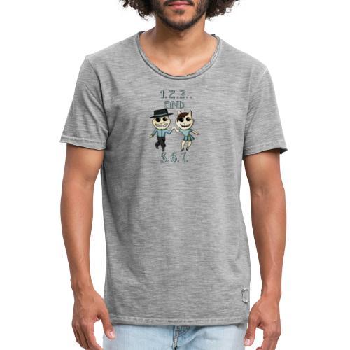 salsa 1 2 3 - Mannen Vintage T-shirt
