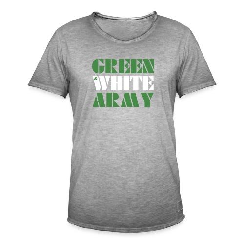 GREEN & WHITE ARMY - Men's Vintage T-Shirt