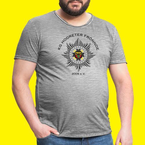 Schwarze Schrift - Männer Vintage T-Shirt