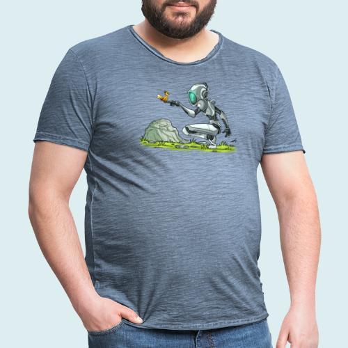 funny robot - Maglietta vintage da uomo