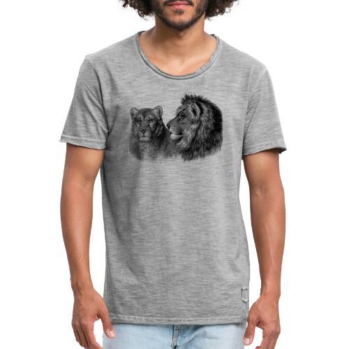 lion - Männer Vintage T-Shirt