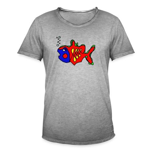 Fisch ..... Tusche Fisch - Männer Vintage T-Shirt