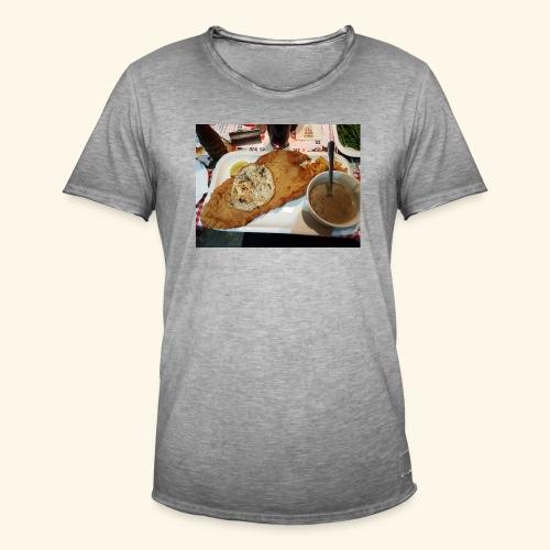 Schnitzel Motiv - Männer Vintage T-Shirt